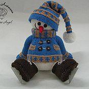 """Куклы и игрушки ручной работы. Ярмарка Мастеров - ручная работа Мастер-класс """"Снеговик на коньках"""". Handmade."""