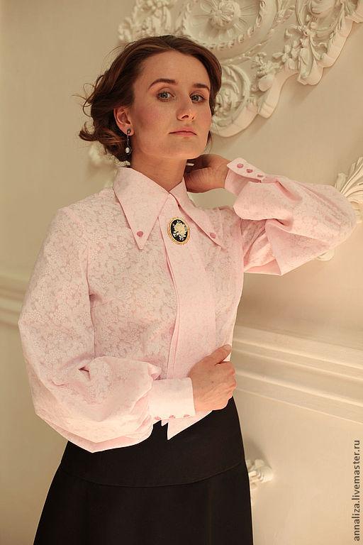 Блузка с галстуком женская