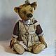 """Мишки Тедди ручной работы. Заказать Медведь Тедди. """"Луша"""".. Алина Карева (karryteddy). Ярмарка Мастеров. Медведь тедди, ключ"""