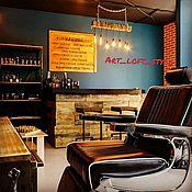 Дизайн и реклама ручной работы. Ярмарка Мастеров - ручная работа Barbershop- Barberbar дизайн и отделка интерьера.. Handmade.