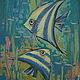 """Животные ручной работы. Ярмарка Мастеров - ручная работа. Купить Две рыбки...(из серии """"Рыбки"""") Авторская равбота. Handmade."""