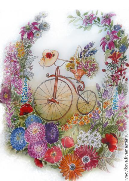 Яркая, позитивная и романтическая открытка станет прекрасным дополнением к вашему подарку!