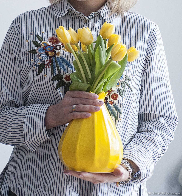 """Ваза """"Yellow Lemon L"""" 1,4 л, Вазы, Вязники,  Фото №1"""