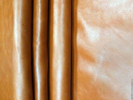 Шитье ручной работы. Ярмарка Мастеров - ручная работа. Купить Кожа натуральная Пулапп оранжевый. Handmade. Оранжевый, кожа пулапп
