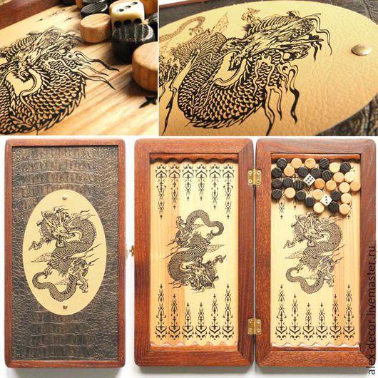 """Подарки для мужчин, ручной работы. Ярмарка Мастеров - ручная работа. Купить Нарды """"Dragon"""". Handmade. Нарды, нарды ручной работы"""
