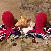 Мягкие игрушки ручной работы. Ярмарка Мастеров - ручная работа Осьминог. Handmade.