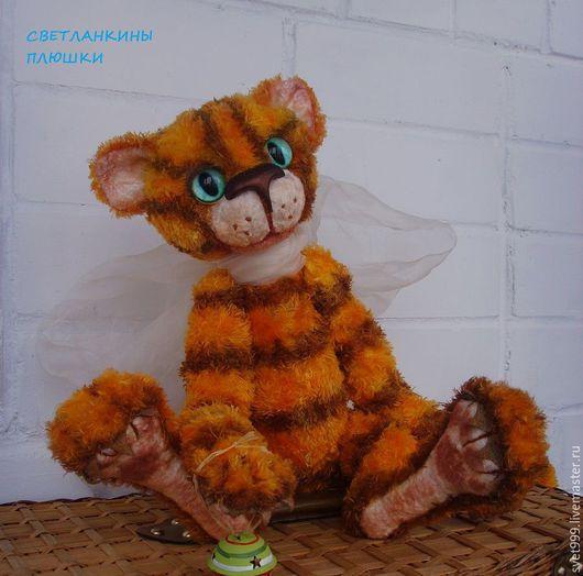 Мишки Тедди ручной работы. Ярмарка Мастеров - ручная работа. Купить плюшевый котей Мотька. Handmade. Рыжий, кот в подарок