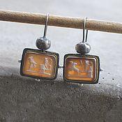 Украшения handmade. Livemaster - original item Cameo earrings, silver and pearls. Handmade.