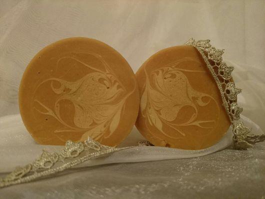 """Мыло ручной работы. Ярмарка Мастеров - ручная работа. Купить Мыло с нуля """"Овсяное с мёдом"""". Handmade. Натуральное мыло"""