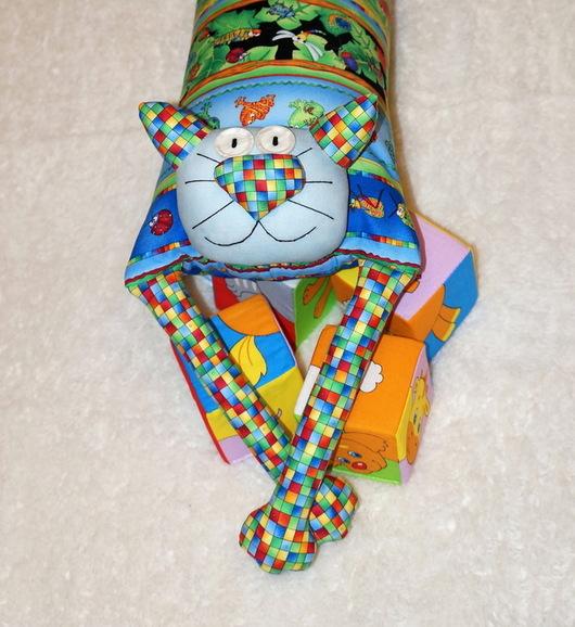 """Детская ручной работы. Ярмарка Мастеров - ручная работа. Купить Игрушка-подушка """"Радужный кот"""" веселые хамелеоны. Handmade. котик"""