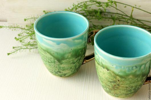 Кружки и чашки ручной работы. Ярмарка Мастеров - ручная работа. Купить Керамические бокалы Майское цветение. Handmade. Чашка для чая