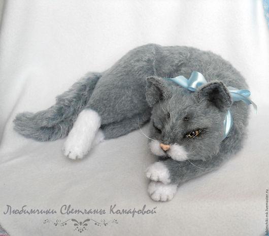 Вязание ручной работы. Ярмарка Мастеров - ручная работа. Купить Тимофей кот без хлопот. Handmade. Комбинированный, техно