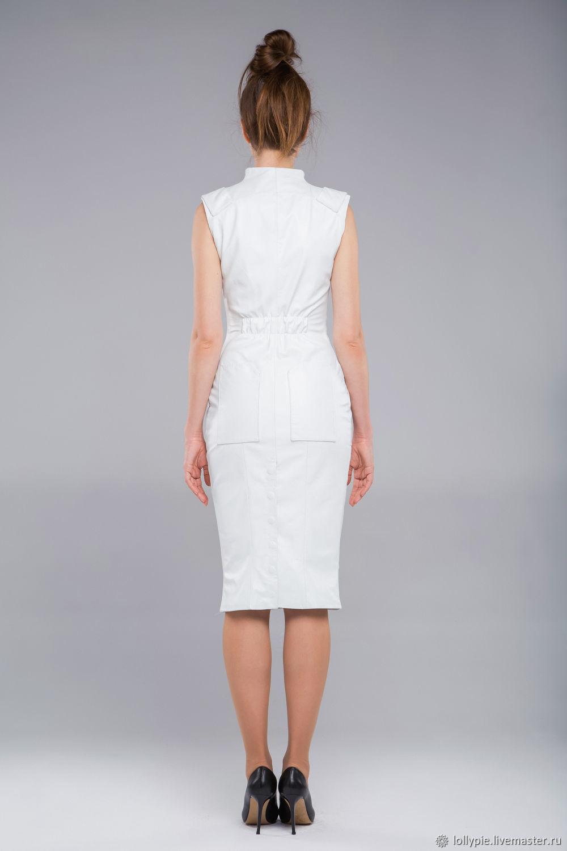 3356de79863bebd Кожаное белое платье – купить в интернет-магазине на Ярмарке ...