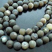 Материалы для творчества handmade. Livemaster - original item Agate with drosou matte beads 14mm, 20pcs string. Handmade.