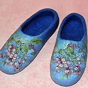 """Обувь ручной работы. Ярмарка Мастеров - ручная работа Тапочки """"Голубой рассвет"""". Handmade."""