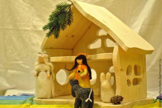 Кукольный дом ручной работы. Ярмарка Мастеров - ручная работа. Купить Домик для кукол. Handmade. Домик, вальдорфский домик