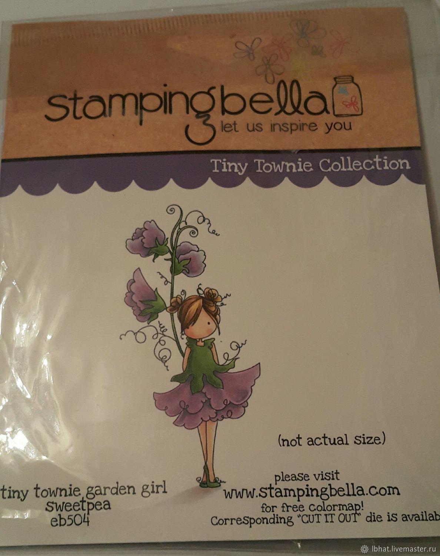 Штампы для скрапбукинга Stamping Bella - Tiny Townie Garden Girl, Штампы, Москва,  Фото №1