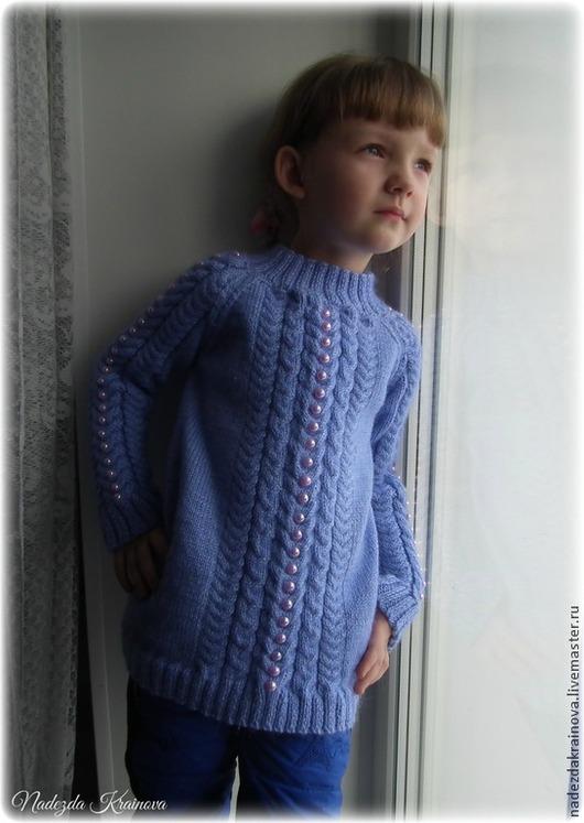 Одежда для девочек, ручной работы. Ярмарка Мастеров - ручная работа. Купить Детская кофточка. Handmade. Голубой, для детей