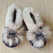 Одежда детская handmade. Livemaster - original item Shoes for children:fur slippers made of sheepskin