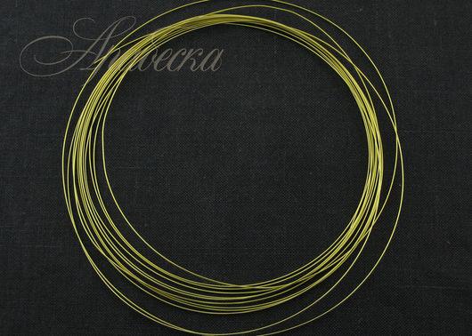 Арт-проволока Полукруглая медная цвета шампанское золото BEADSMITH (США)