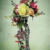 Композиции ручной работы. Ярмарка Мастеров - ручная работа Статуэтка:негритянка с цветами.. Handmade.