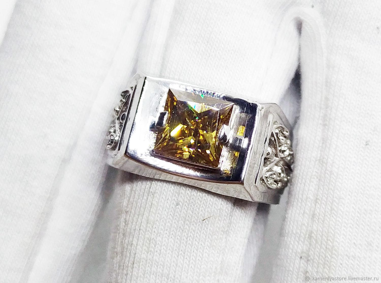 Мужской перстень с муассанитом 2.15кт серебро 925 пробы, Перстень, Рязань,  Фото №1