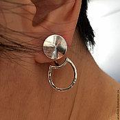 Украшения handmade. Livemaster - original item Double earrings Circus - transformers-Silver clove. Handmade.