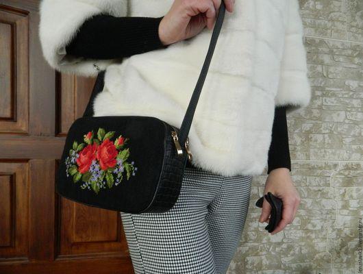 """Женские сумки ручной работы. Ярмарка Мастеров - ручная работа. Купить маленькая сумочка """"любовь к розам"""". Handmade. Комбинированный"""