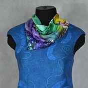 """Одежда ручной работы. Ярмарка Мастеров - ручная работа жилет валяный двухсторонний  """"Глубокое синее море"""". Handmade."""