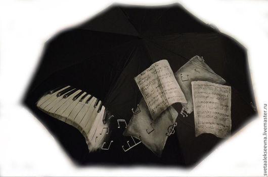 """Зонты ручной работы. Ярмарка Мастеров - ручная работа. Купить Зонт с ручной росписью """"River Flows In You"""". Handmade."""