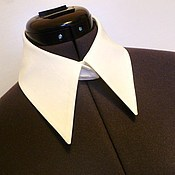 Аксессуары handmade. Livemaster - original item Detachable collar shirt at the front / cotton white. Handmade.