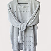 Одежда handmade. Livemaster - original item Cotton jumper with openwork shackle. Handmade.