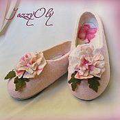 """Обувь ручной работы. Ярмарка Мастеров - ручная работа Тапочки """"Little flower"""". Handmade."""