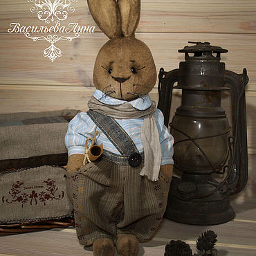 Куклы и игрушки ручной работы. Ярмарка Мастеров - ручная работа Кролик Эрнест. Handmade.