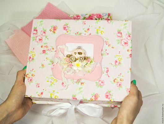 """Подарки для новорожденных, ручной работы. Ярмарка Мастеров - ручная работа. Купить коробочка """"Мамины Сокровища"""". Handmade. Разноцветный, девочка, малышка"""