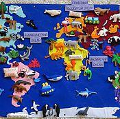 Куклы и игрушки ручной работы. Ярмарка Мастеров - ручная работа Плакат КОНТИНЕНТЫ, Животные Мира. Handmade.