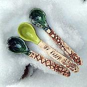 Посуда handmade. Livemaster - original item Green spoons set (3 items). Handmade.