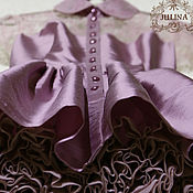 """Одежда ручной работы. Ярмарка Мастеров - ручная работа Платье шелковое """"Вишня со сливками"""". Handmade."""