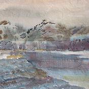 Картины и панно ручной работы. Ярмарка Мастеров - ручная работа Утро в Норвегии. Handmade.