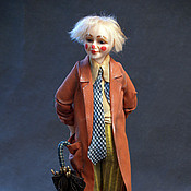 """Куклы и игрушки ручной работы. Ярмарка Мастеров - ручная работа авторская кукла  клоун """"Фокус-покус"""". Handmade."""