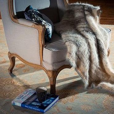 Для дома и интерьера ручной работы. Ярмарка Мастеров - ручная работа Одеяло из собачьей шерсти Пушистый Хаски. Handmade.