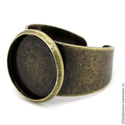 Для украшений ручной работы. Ярмарка Мастеров - ручная работа Основа для кольца с платформой 1,4 см. Handmade.