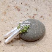 Украшения handmade. Livemaster - original item Silver freshwater pearl earrings