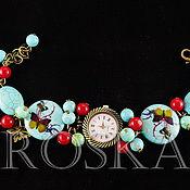 Украшения ручной работы. Ярмарка Мастеров - ручная работа часы с браслетом из натуральных камней. Handmade.