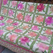 Для дома и интерьера ручной работы. Ярмарка Мастеров - ручная работа Плед Розовый сад. Handmade.
