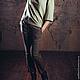 Брюки, шорты ручной работы. Твидовые брюки слаксы 2. Sandland. Интернет-магазин Ярмарка Мастеров. Однотонный, итальянские ткани