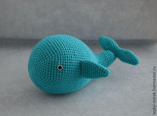 Игрушки животные, ручной работы. Ярмарка Мастеров - ручная работа. Купить Большой бирюзовый кит. Handmade. Тёмно-бирюзовый