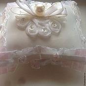 Свадебный салон ручной работы. Ярмарка Мастеров - ручная работа Подушка для колец Жемчужинка. Handmade.
