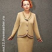 "Одежда handmade. Livemaster - original item Knitted suit ""Office classic"". Handmade."