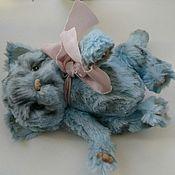 Куклы и игрушки ручной работы. Ярмарка Мастеров - ручная работа Голубой котик. Handmade.